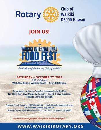 13th Annual Waikiki International Food Fest @ 'Alohilani Resort Waikiki Beach - Grand Ballroom | Honolulu | Hawaii | United States